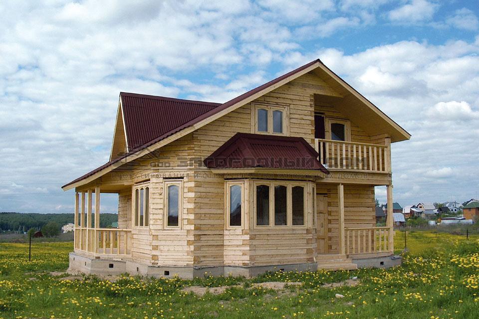 Загородный дом с парной и гостиной в два света, проект свити.