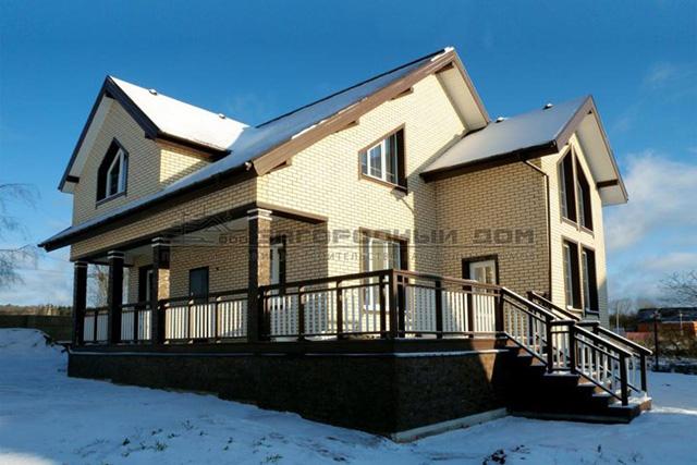 проект дома из бруса с утепленным фасадом Борисово
